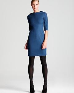 Diane von Furstenberg 4 Thandi Stretch Wool Dark Lapis bluee Sheath Dress-