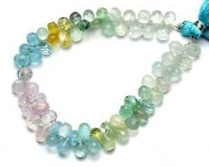 5x7mm Approx 20 Pieces Aquamarine Faceted Tear Drop Beads