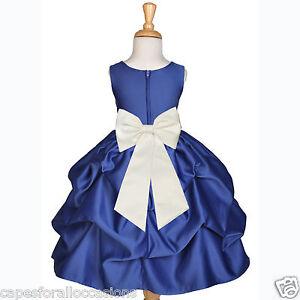 Up Blumenmädchen 8 4 Brautjungfer Pick 3t Hochzeit 2 Marineblau Kleid 6m 5t 7 6 10 12m nO8kP0Xw