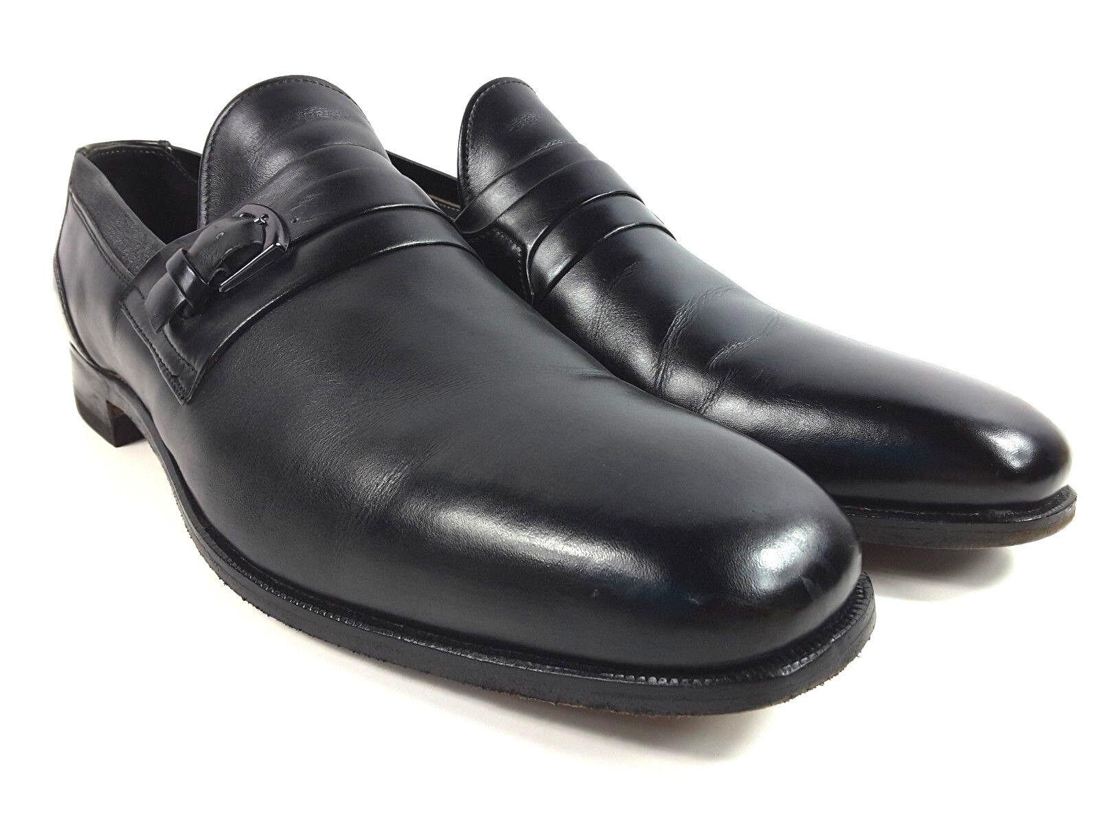 Breather Wright Misura 11.5 un Nero pelle Slip On Mocassini Fibbia Uomo Sautope Sautope classeiche da uomo