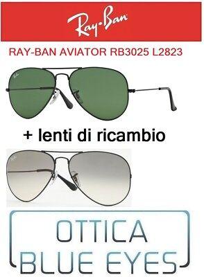 RAYBAN SUNGLASSES AVIATOR RB 3025 L2823 RAY BAN + coppia