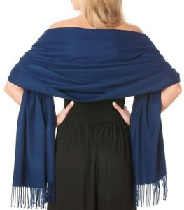 Central Chic Pink Cashmere Scarf Pashmina Shawl Wrap *UK Seller//Fast Delivery*