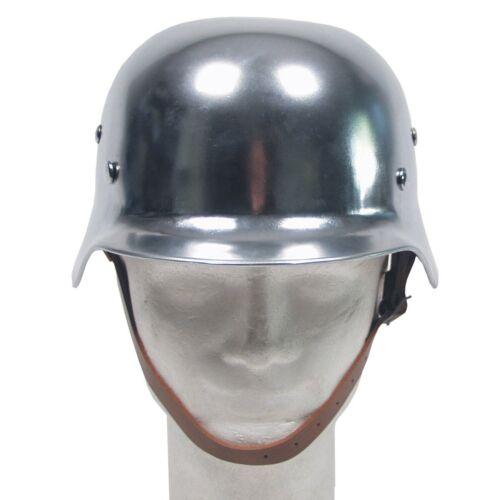 MFH Stahlhelm WW II mit Leder-Innenteil