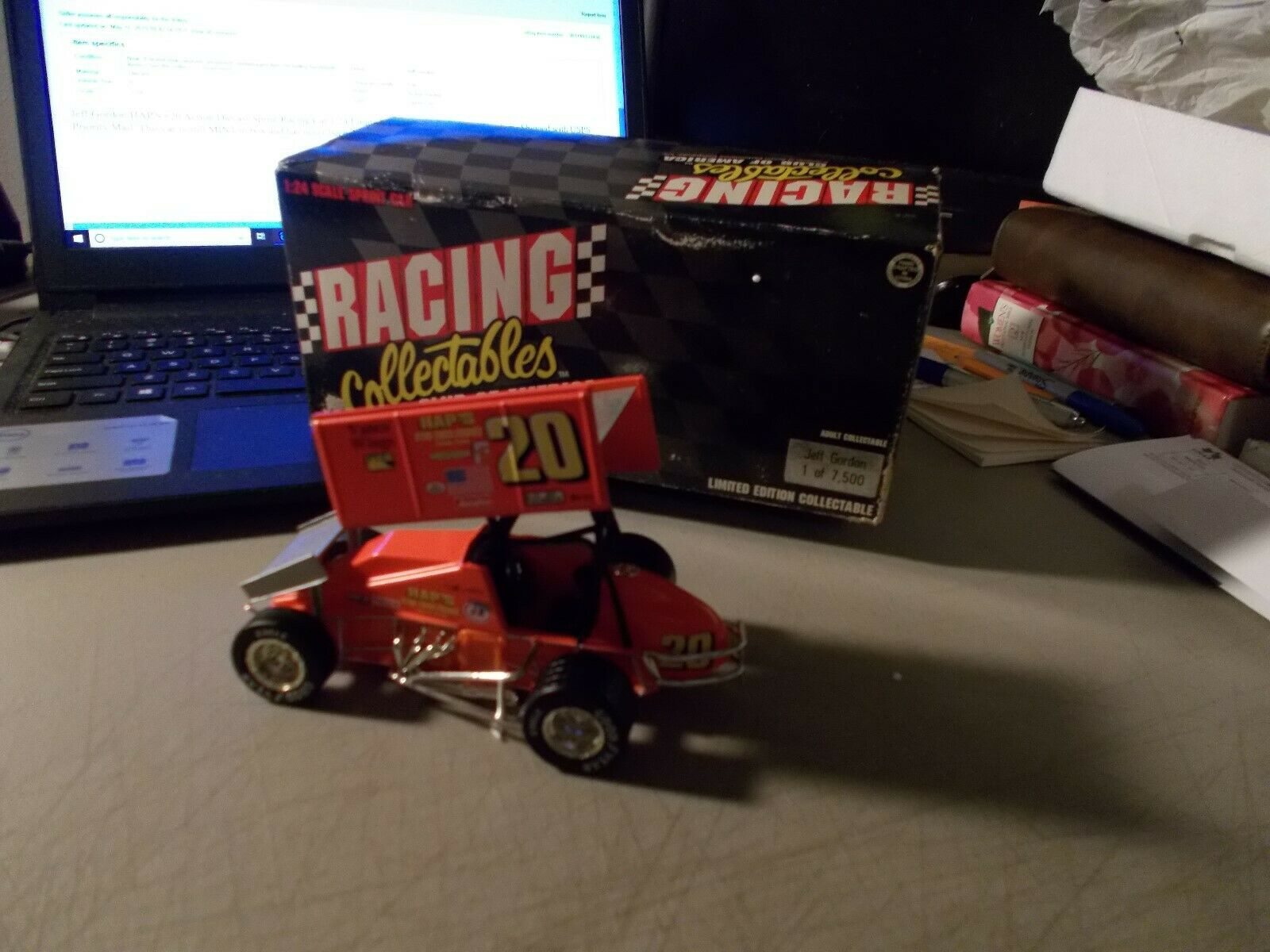 Action Racing Collectables Club of America Jeff Gordon  20 Pad Sprint Car 1 24 Diecast 1 7500