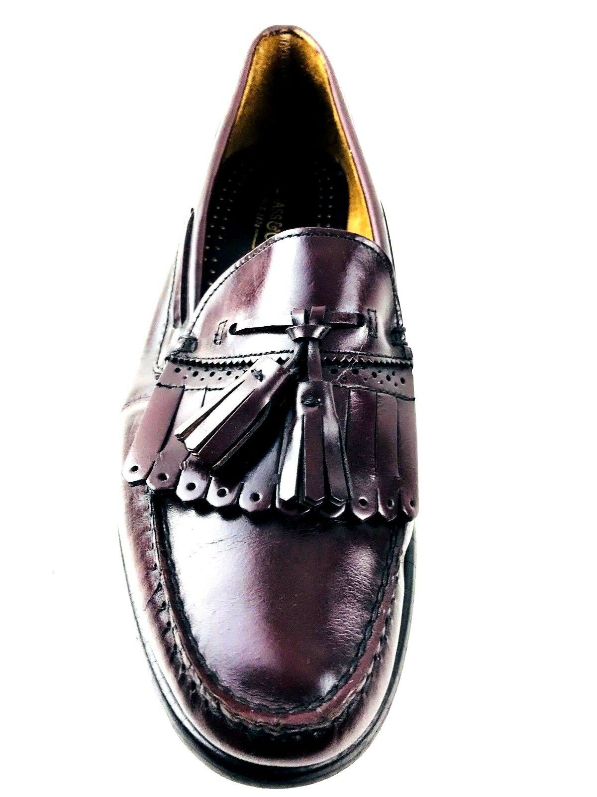 G.H. BASS Tassel Burgundy UK.10 Loafer Size US.10.5 UK.10 Burgundy EU.43.5 ec6093