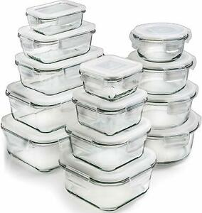 Set-of-13-Natural-Glass-Food-Storage-Containers-Microwave-Freezer-Oven-Safe