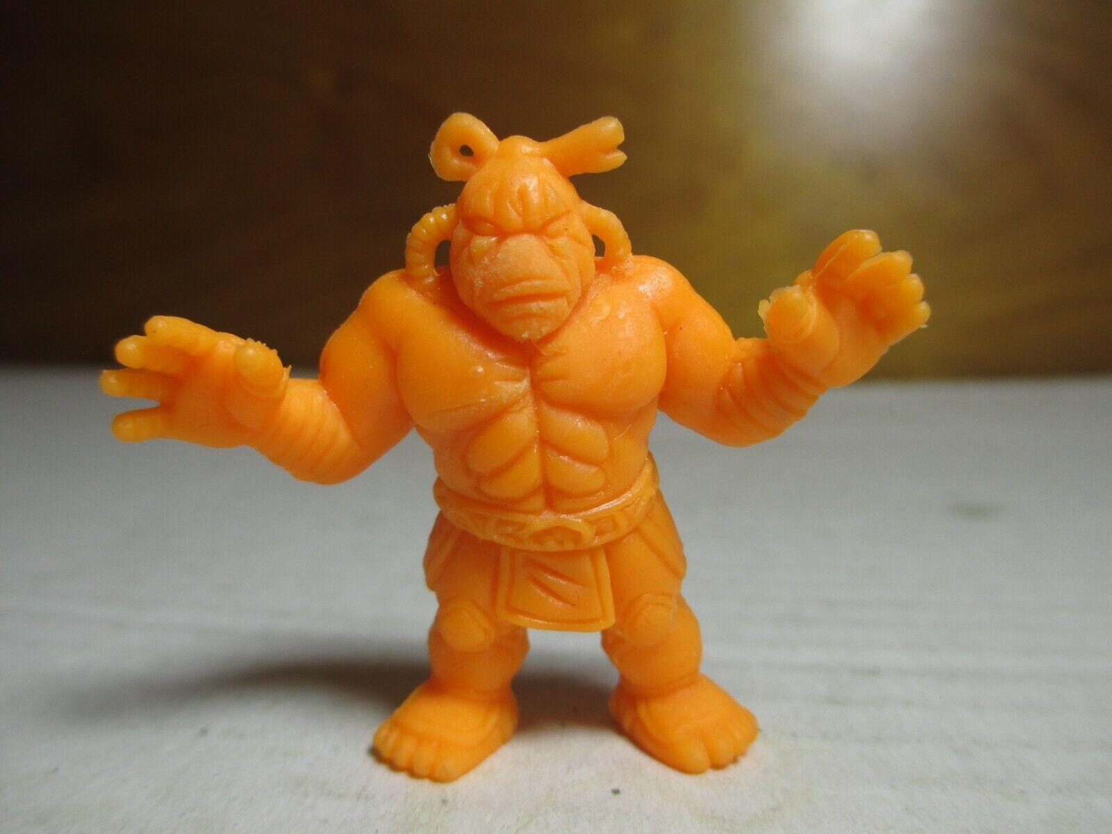 Años 80 M.U.S.C.L.E. MEN Kinnikuman Neón Naranja Color 2  Negro zumou  165 Mattel