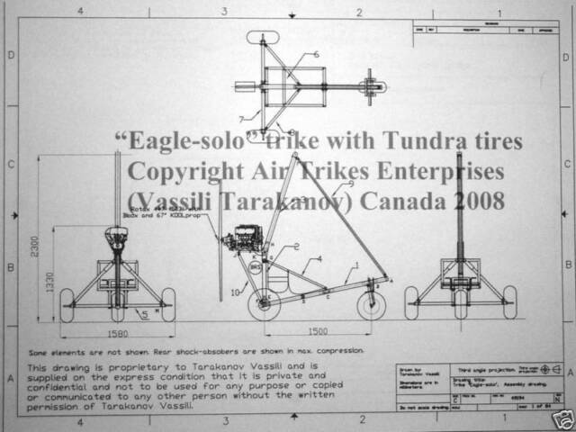 Eagle trike chassis plans (Experimental or ultralight aircraft)
