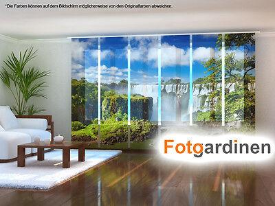 auf Maß Schiebevorhang Schiebegardinen Fotogardine Vietnamischer Wasserfall
