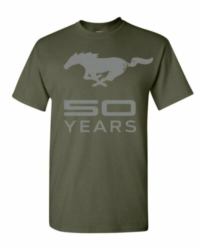 Ford Mustang 50 Ans T-shirt anniversaire sous licence tee shirt