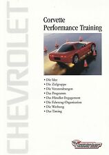 CHEVROLET CORVETTE C5 Performance Verkauf Training Prospekt Brochure 2002
