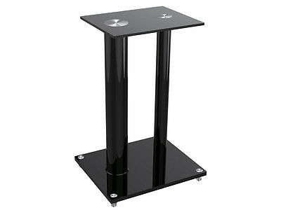 Glass Floor Speaker Stands (pair) - Black