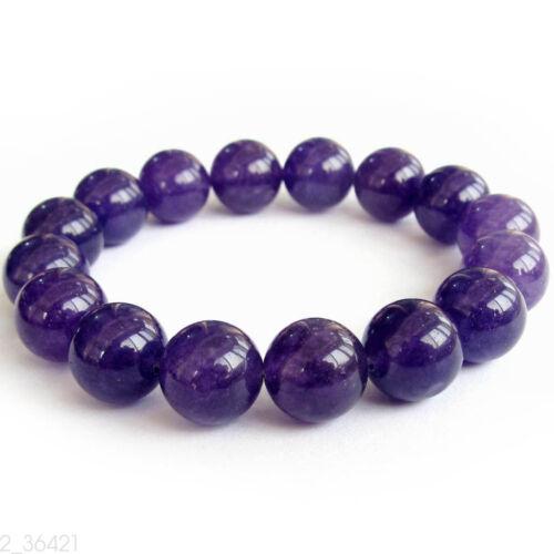 12 mm Violet Jade du Tibet bouddhiste prière perles Mala Bracelet corps Accessoires Cadeau