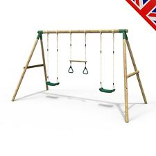 Rebo Kids Wooden Garden Swing Set Childrens Swings - Comet