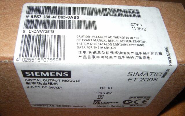 Siemens SIMATIC DP, ELEKTRONIKMODULPROFISAFE, 6ES7138-4FB03-0 OVP