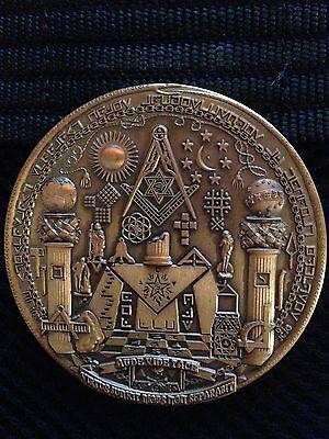125th Anniversary Expert Mason 2010 Conmemorative Bronze Medal 1/500 Rare
