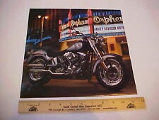 2012 Harley Davidson FLSTF Fat Boy HD factory calendar shot for display or frame