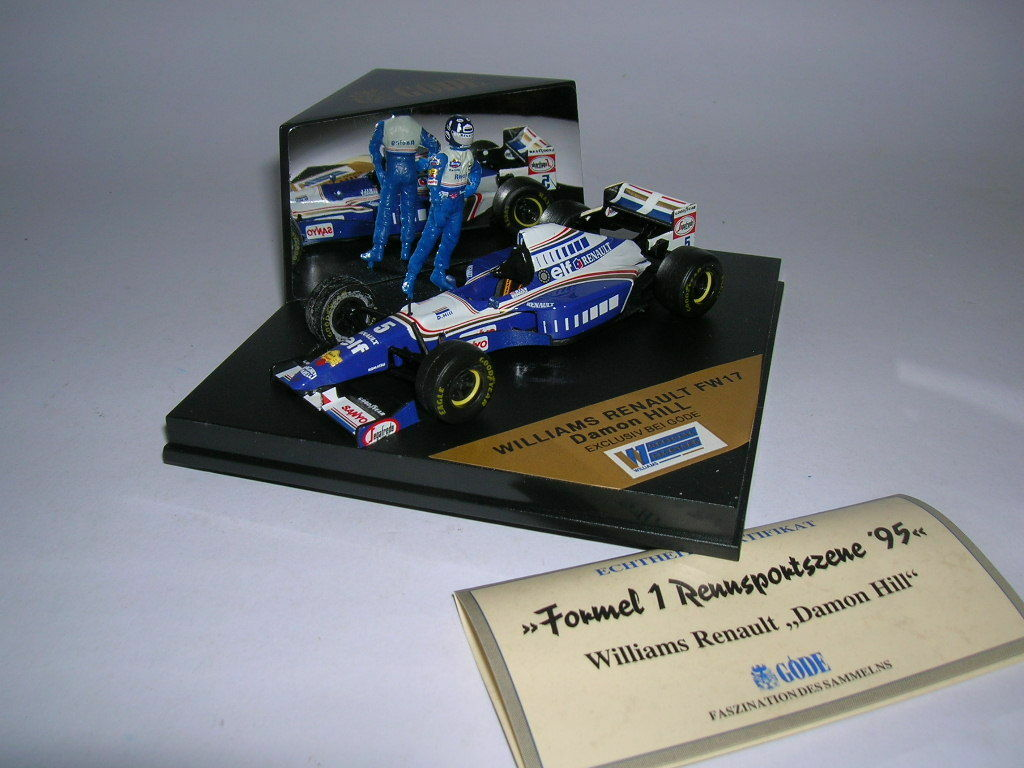 GÖDE editionformel 1 WILLIAMS RENAULT FW17 with Driver Figure DAMON HILL, 1 43