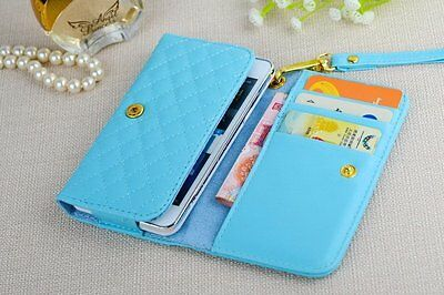 Universal Wallet Card Slot Strap Flip PU Leather Cover Case Pouch For LG