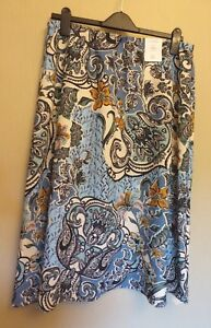 Marks-amp-Spencer-Classic-UK12L-EU40L-US8L-new-paisley-print-A-line-pull-on-skirt
