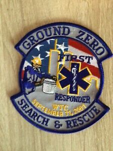 NYPD PAPD FDNY EMS Ground Zero Search & Rescue First Responder Patch