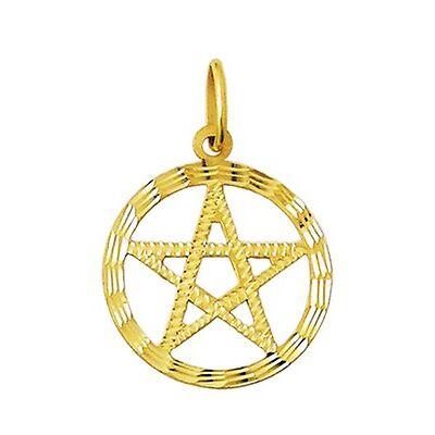 18k Gold Pendant Large PENTAGRAM amulet 5.1 grams