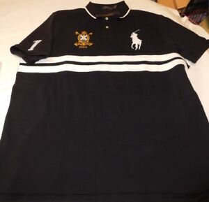 Polo-Ralph-Lauren-Short-Sleeve-Polo-Shirt-XXL-Classic-Fit-726001-Polo-Black-Mult
