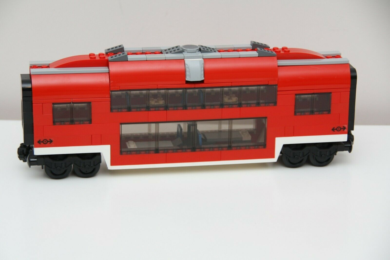 LEGO City Custom Built rot Passenger Train Middle Middle Middle Observation Car Carriage 7938 755643