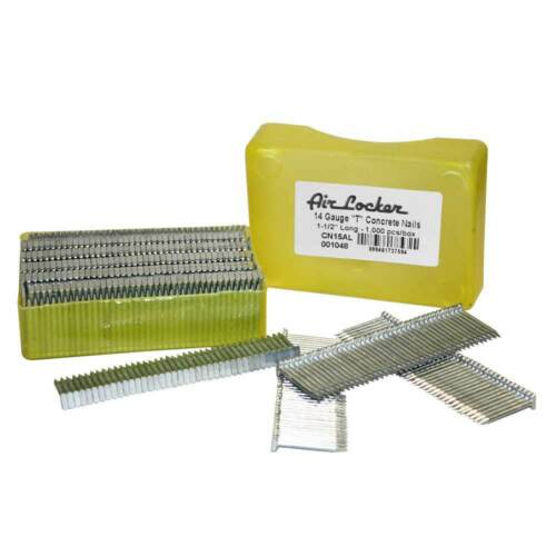 CN15AL 1000//Pk Concrete T-Nails for Concrete Nailers 1-1//2 Inch Smooth Shank