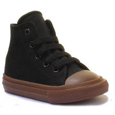 Converse Chuck Taylor All Star Infants Brown Black Canvas Trainers