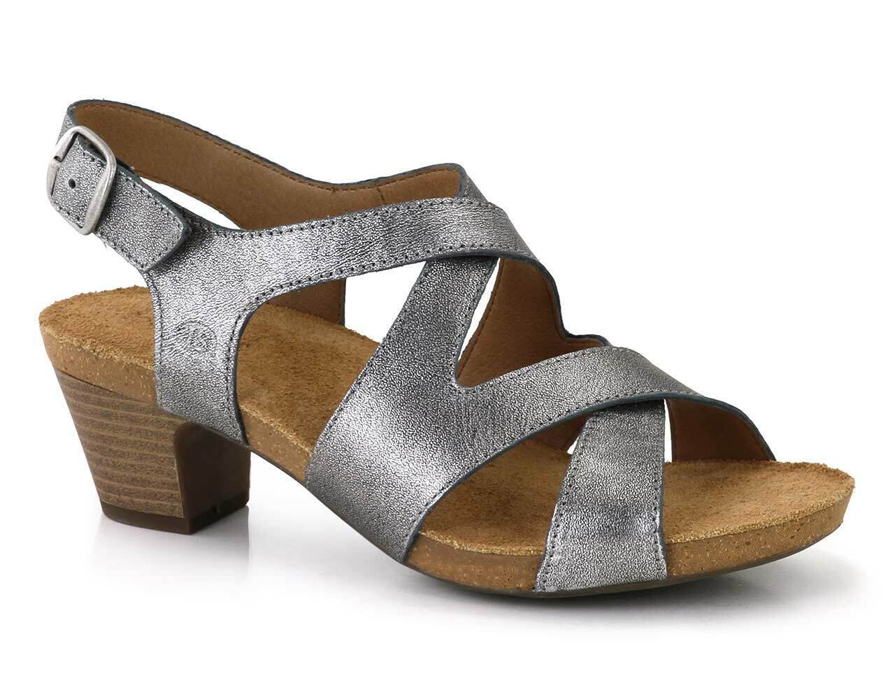 Josef Seidel Ruth 15 Womens Ladies Ankle Strap Buckle Sandals Metallic UK 6 - 7