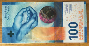 Switzerland Swiss 100 Francs 2017 UNC Sign #1 2019