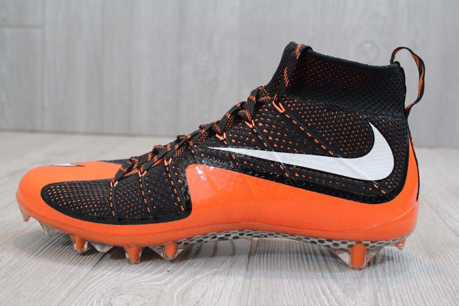 22 nuevos cleats Nike Vapor Flyknit Football cleats nuevos Negro 707455-0intocable Pro - 13 4ad7c3