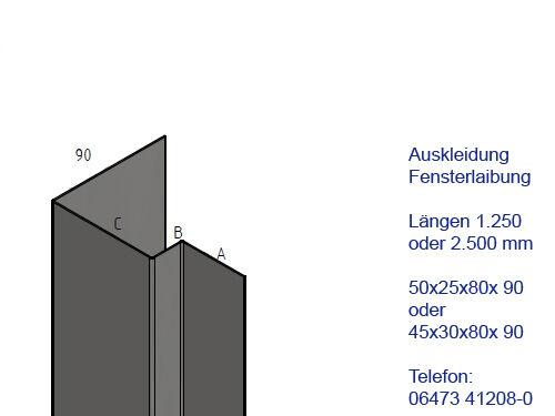 Acier Inoxydable profil de connexion abschlußlisene 90 1.4301 extérieur taille k320 inoxydable