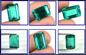 100% Natural 13 Ct Colombian Emerald May Birthstone Emerald Cut Certified A25315