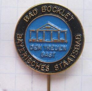 BAD-BOCKLETT-BAYERISCHES-STAATSBAD-Anstecknadel-kein-Pin-Ka2-2