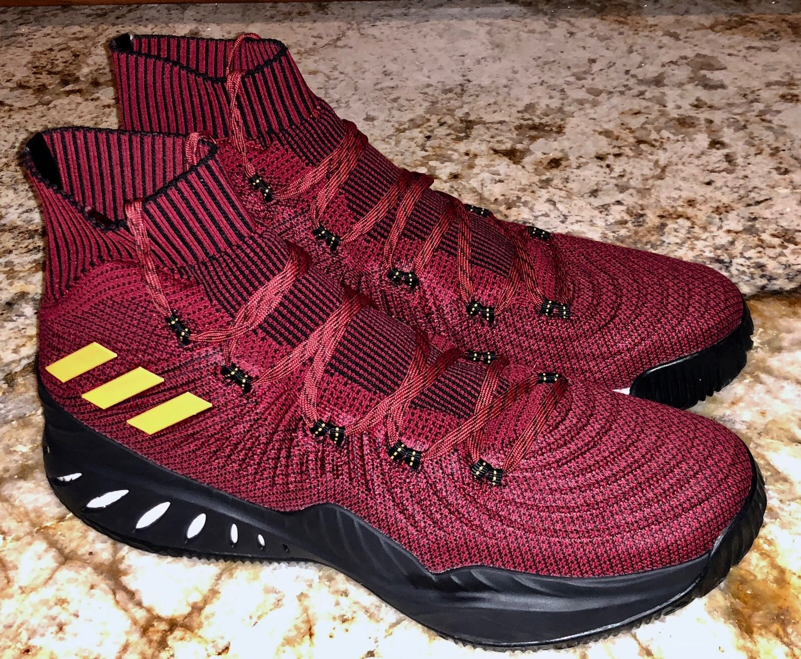 ADIDAS Crazy Explosive Primeknit Maroon Miami Heat Basketball shoes NEW Mens 14