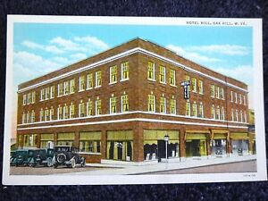 Details about 1930's The Hotel Hill in Oak Hill near Beckley, WV West  Virginia PC