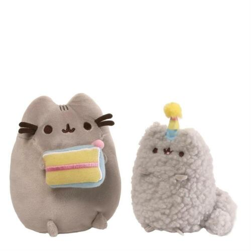 Gund 4059126 Pusheen and Stormy Cat Birthday Collectable Set Soft Toy Plush