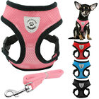 Didog Air Mesh Fabric Puppy Dog Harness&Walking Leash Set for Chihuahua Poodle