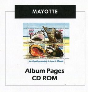Mayotte-Stamp-Album-1892-2011-Color-Illustrated-Album-Pages