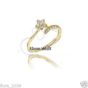 Anneau en plaqué or rose diamant cz transparent Neuf. Très belle Bague Alliance