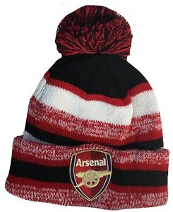 Image is loading FC-ARSENAL-HAT-BEANIE-POM-POM-COLOR-RED- 02e4b6a50f0
