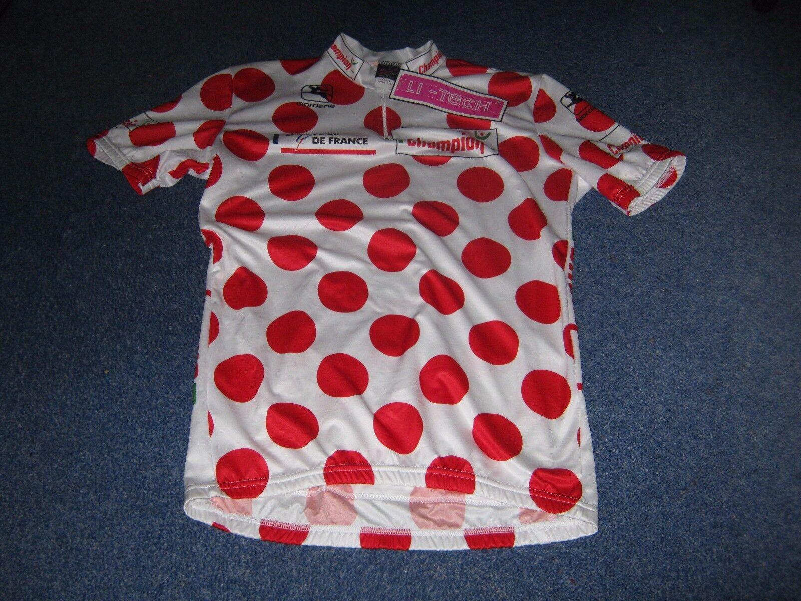 TOUR DE FRANCE 1995 GIORDANA POLKA DOT KOM LEADERS CYCLING JERSEY  BNWT