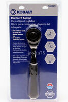 Kobalt Dial To Fit Ratchet Wrench Adjust Socket Size 3/8 To 3/4 Sae &10 To 19mm