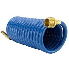 White /& Blue Dura Faucet DF-SA186-WT RV Exterior Quick Connect Spray Faucet with Multi Spray Nozzle