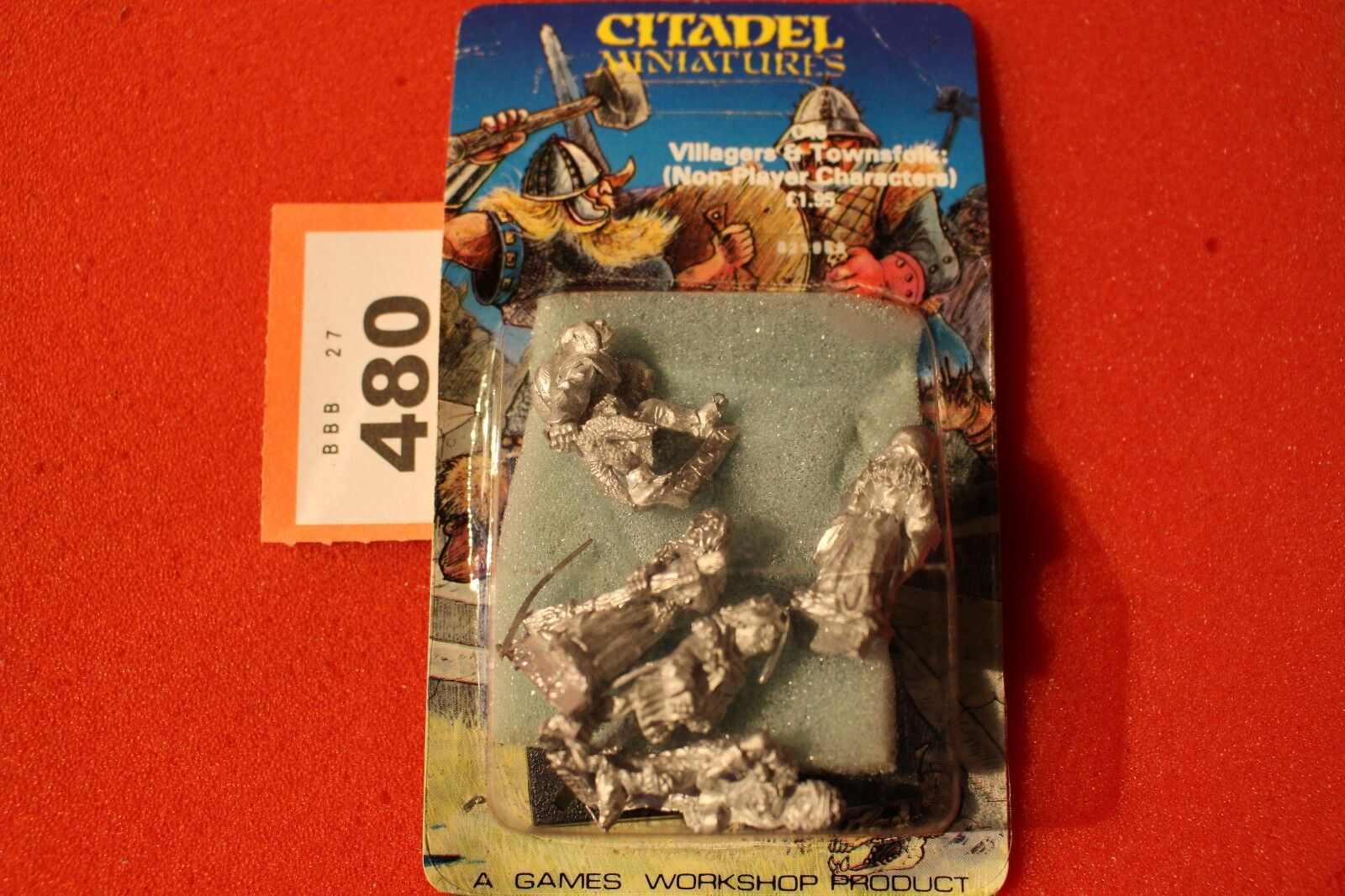 Citadel C46 villageois Townsfolk métal 5x Figurines Games Workshop Warhammer 80 S I