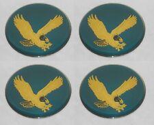 4 Teal 275 70mm Diameter Eagle Bird Logo Wheel Rim Center Cap Round Sticker