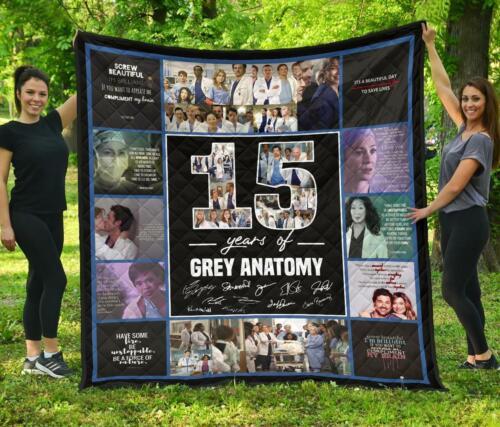 Grey/'s Anatomy 15 Years Anniversary Fleece Blanket Quilt Blanket Print In USA