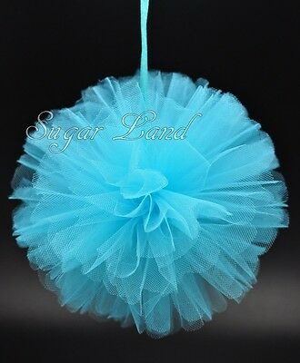 4 PCS Tulle Pom Flowers Balls Wedding Party Decorations Outdoor Decor